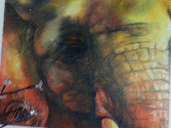 Baby Elephant - The African Savannah. Ginny Helsen Seahorseart