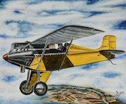 Avión sobre las nubes. Douviant Pey Bureau Guerola
