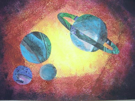 Série en voyage dans le Cosmos. Lydia Cerbera Présidente Responsable De l'association Univers Des Arts