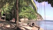 La plage d'Anse de mai sur l'île Nature de la Dominique. Eric Serafini