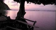Tombé de la nuit à Anse de mai sur l'île Nature de la Dominique. Eric Serafini
