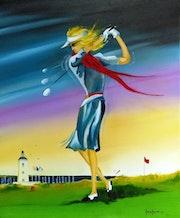 La golfeuse de Bourgenay.