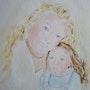 Mère et fille. Brigitte Leleu