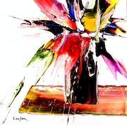 Bouquet de fleurs. Charles Carson
