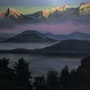 Misty Mountains- The Himalayas. Seahorseart