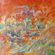Acajou une toile réalisée en 2005….