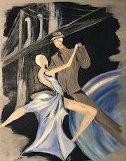 Tango bleuté. Myriam Deschamps