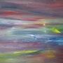 Landscape 2. Grosses Gemälde. Unikat. Signiert 160 X 100 cm. Heidrun Baur