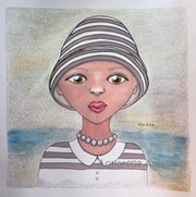 Lady Grey on the beach.. Aniane