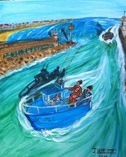 Capbreton:rentrée des pêcheurs.
