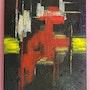Tableau acrylique «Magma» (14). Acr. Acrtoiles
