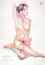 Print, Female Nude, Akt #10441 (2001/2017). Hajo Horstmann