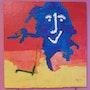 Tableau acrylique «Chamallow» (16). Acr. Acrtoiles