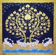 Asian Art Buddha Bodhi Tree. Royalthaiart