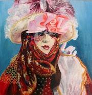 Mystérieuse inconnue (Masque vénitien inspiré du carnaval de Venise). Isabelle Rombi