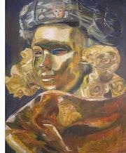 Masque d'Or Carnaval de Venise. Isabelle Rombi