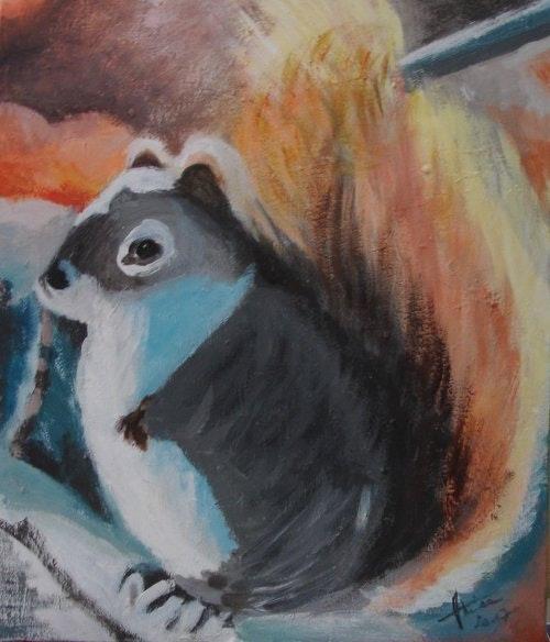 «L'écureuil». Amira Amira (Nom d'artiste)