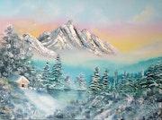 Little winter cabin.