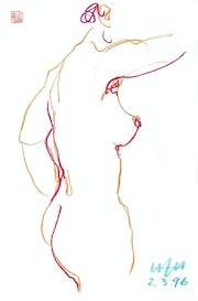 Print, Female Nude Akt #5933 (1996/2017). Hajo Horstmann