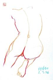 Print, Female Nude Akt #5947 (1996/2017). Hajo Horstmann