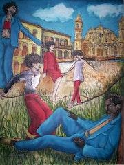 Jinetero en la Habana.