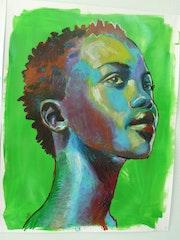 Femme black verte. Patrick Feillens