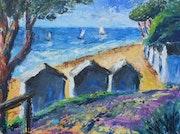Les cabines de Noirmoutier.
