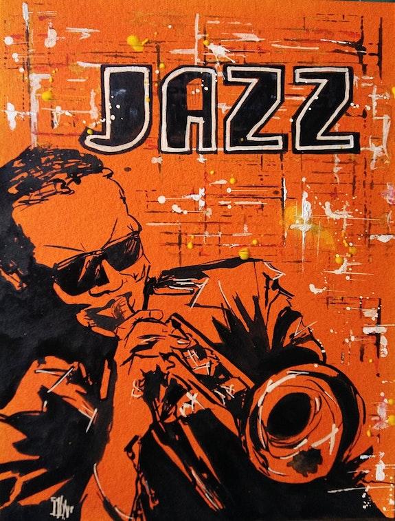 Jazz Street Art. L'aquarelle Autrement L'aquarelle Autrement