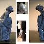 Escultura de esteatita «Todo vestida de tul». Françoise Faucher-Moreau