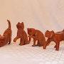 Gatos tallados en cedro escala 1:2. Gabriel Neuhaus