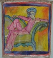 Femme dans son fauteuil.