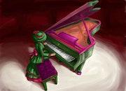 L'histoire du femme pianiste. Alfredo