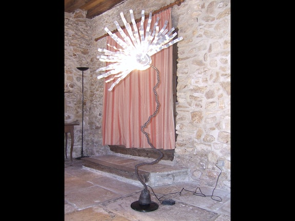 Luminaire paon. Laurent Thome Lolo