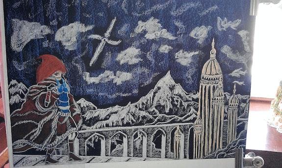 Paysage fantastique et imaginaire. Chantal Rousseau Fantou16