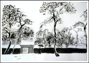 Neige sur le temple Meiji -Maï.