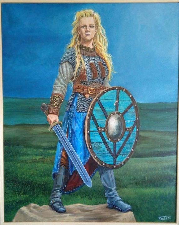 Lagertha (Serie Vikings). F. Lara F. Lara-Artísta Plástico