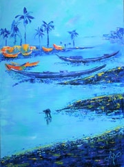 Lagune bleue.
