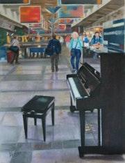 Piano libre dans la gare Montparnasse.