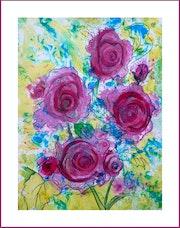 Abstrait - Les roses.