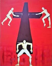 3 Hommes et une croix.