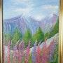 Un paysage de montagne en été. Seren Lienasson