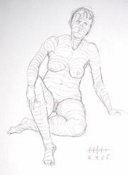 Female Nude Akt #12664 (2005) Zeichnung. Hajo Horstmann