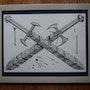 Crossed Swords - a Sketch. Dragonz Art