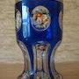 Blauer Überfangbecher, Nordböhmen, um 1910.. Glaskunstgalerie Raphael
