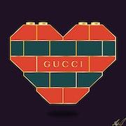 Gucci Lego Heart. A. Gatsby
