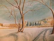 Le chemin sous la neige.