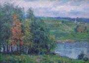 Landschaft im Oktober.