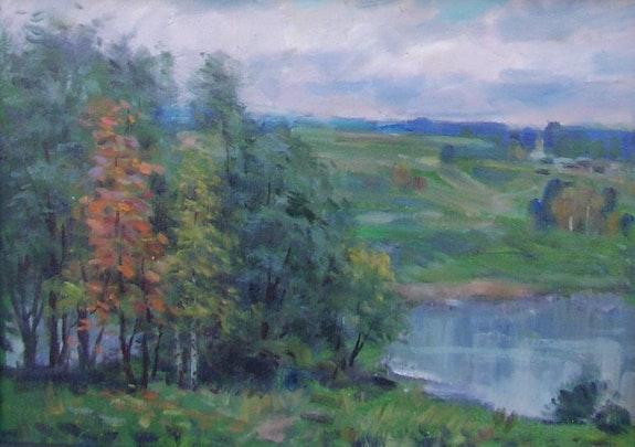 Landschaft im Oktober. A. Samsonov Axel Zwiener