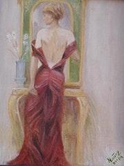Mujer en el espejo.