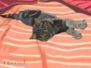 2017-12-04 Muse sur le lit. Michel Normand